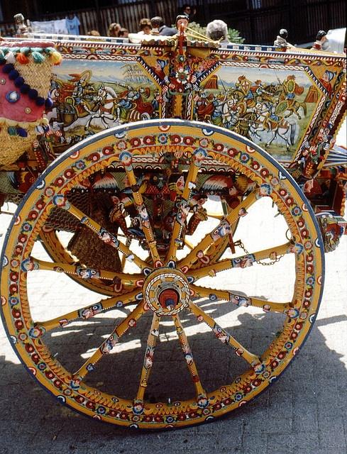 Sizilien -Monreale - Wunderschönes Wagenrad  by roba66, via Flickr