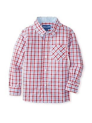 63% OFF Andy & Evan Boy's 2-7 Lord Of The Gings Big Boy Button-Up (Red)