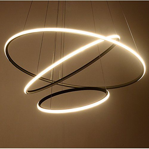 Royal Pearl Modern Circular Led Chandelier Adjustable Han