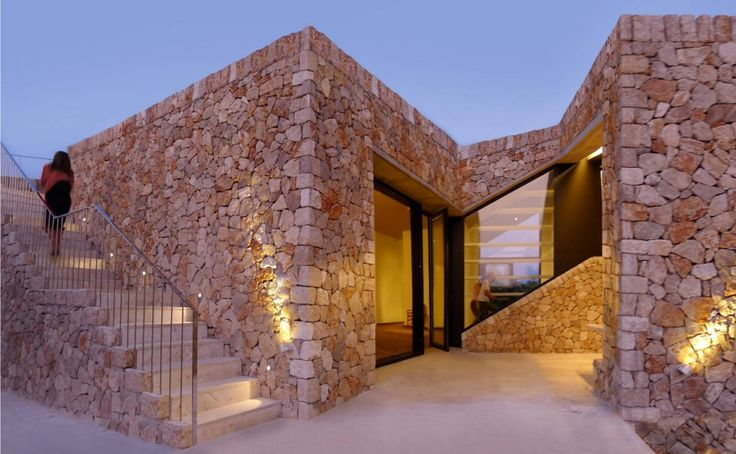 Rustico-Modern Rodia Stone House in Greece by Nikos Smyrlis Architect