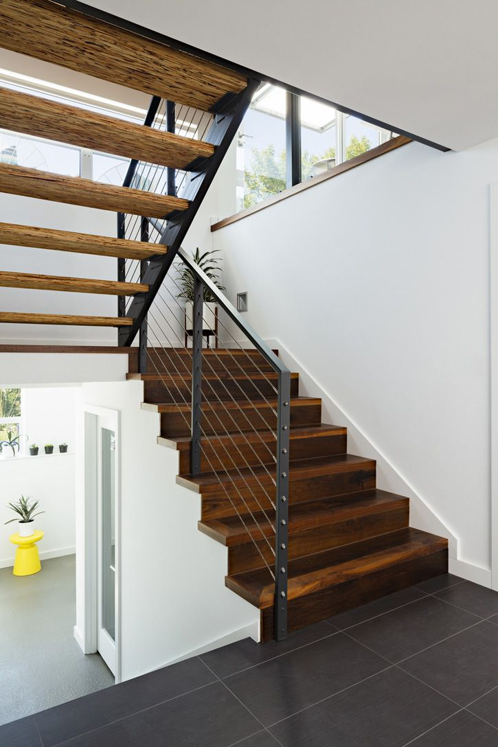 5975 best images about l ments architecturaux et for Modern wood stairs
