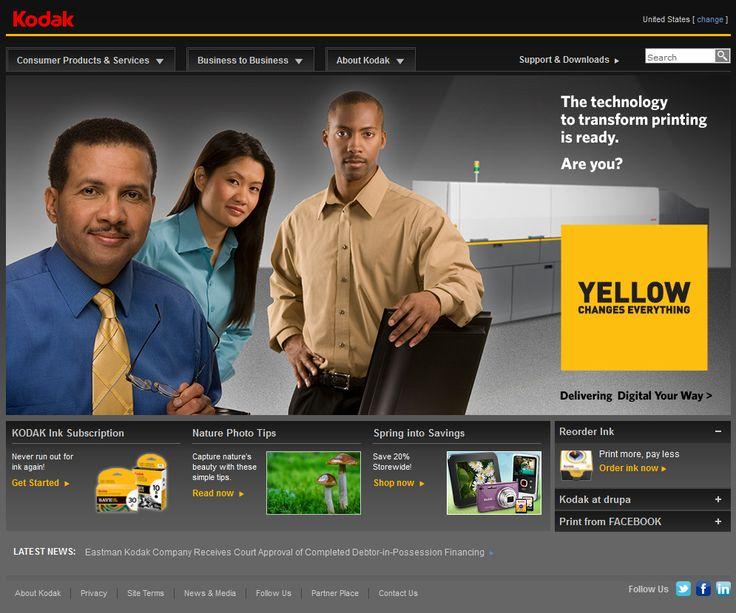Kodak website in 2012