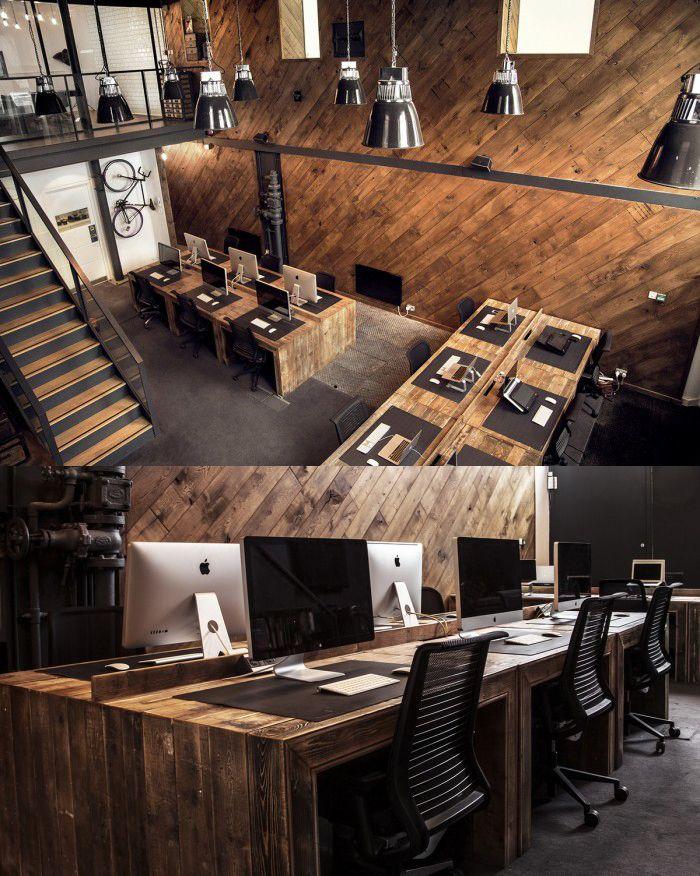 It's gorgeous wooden Open Plan Office! #openplanoffice Cubicles.com
