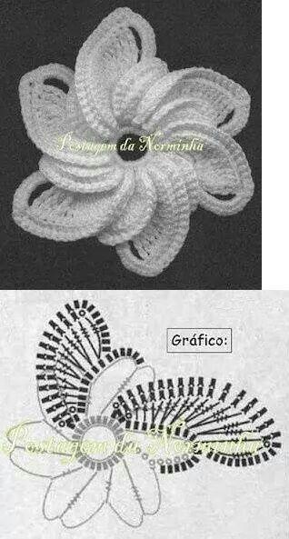 Crochet pattern rose