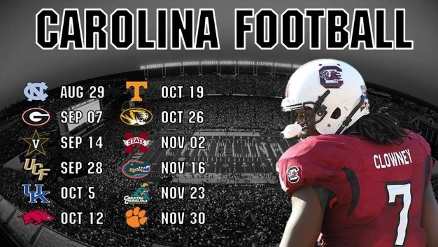2013 USC Gamecock Football Schedule!