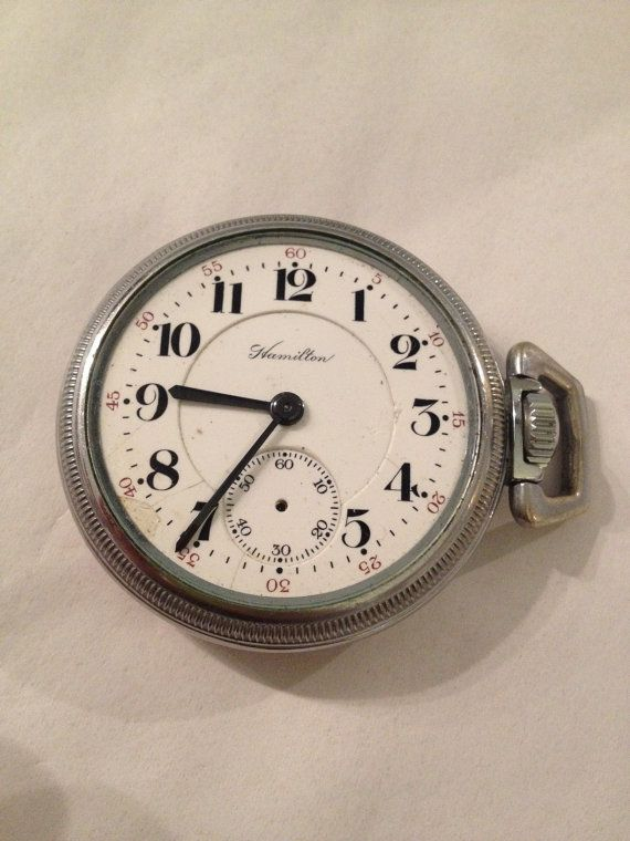Antique Hamilton Pocket Watch in Working Condition Needs TLC