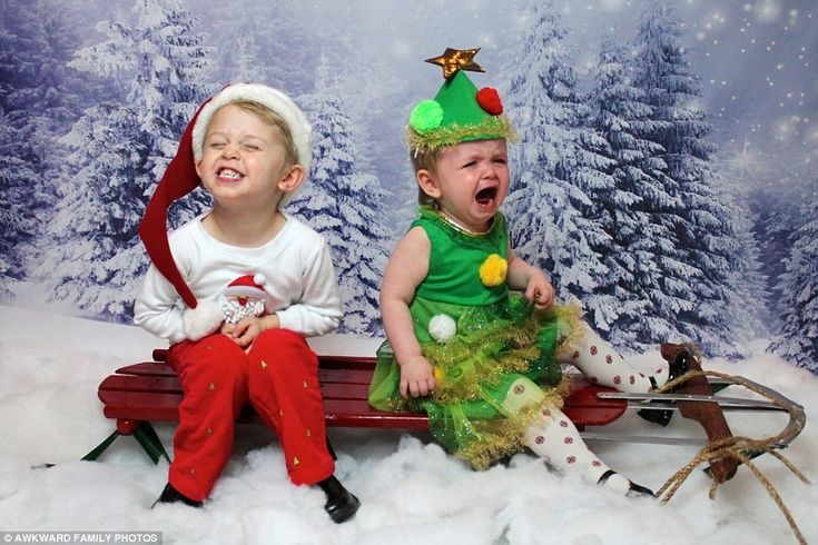 Snow? Check. Wooden sleigh? Check. Silly festive outfits? Check. The perfect recipe for a festive photo fail