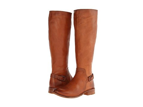 Frye Shirley Shield Tall Cognac Smooth Vintage Leather - Zappos.com Free Shipping BOTH Ways