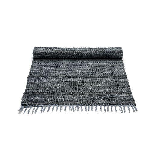 Rug Solid Dark Grey Contemporary Rug