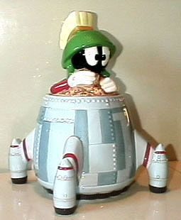 I collected a lot of Marvin items when the WB store was still around. The spaceship cookie jar is my favorite.