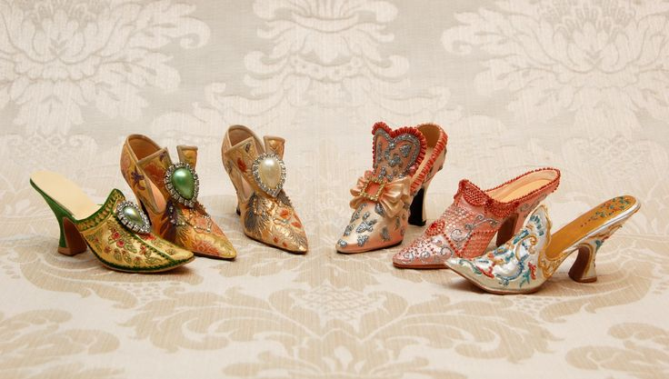 Marie Antoinette's along with Louie XIV shoes - pity they are not full size! Available at www.therubyoracle.com.au