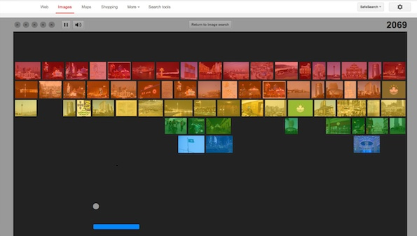 Google Images Easter Egg: Search 'Atari Breakout' into Google Image Search to Play Image Breakout Game