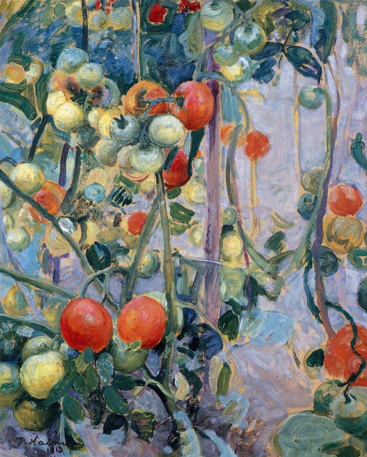 Pekka Halonen, Tomaatteja, 1913, The Life and Art of Pekka Halonen - http://www.alternativefinland.com/art-pekka-halonen/