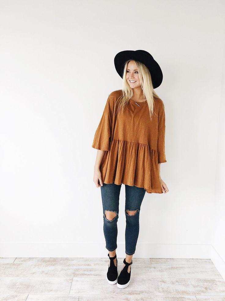 Fall Style: Maggie Peplum in Mustard