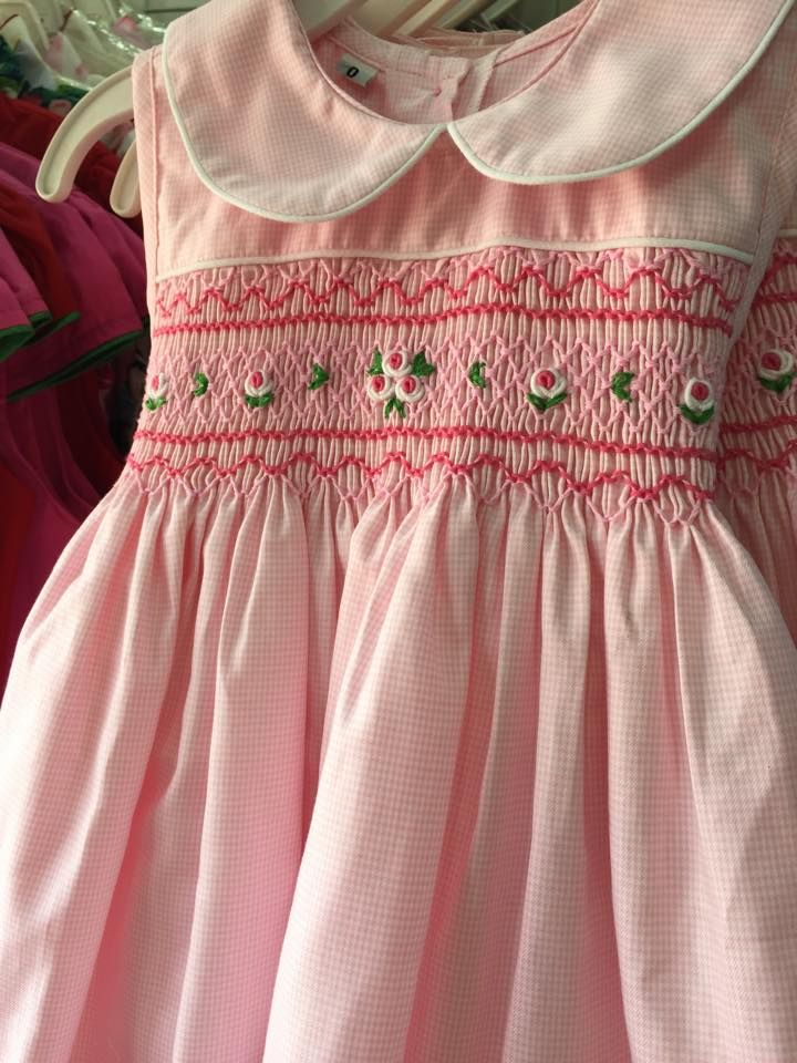 Cute pink smocked dresses!