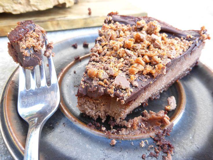 Browniebottomed mascarpone chocolate cheesecake with daim