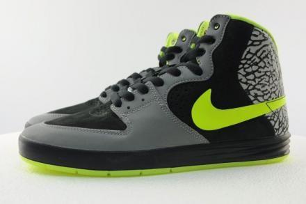 DJ CLARK KENT × NIKE SB P-ROD 7 HIGH PREMIUM METALLIC SILVER/VOLT-BLACK #sneaker
