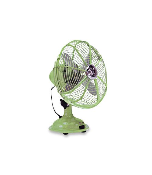 This retro design gets a fresh update in pistachio green. (Ecco Pistachio Desk Fan, $113.95; wayfair.com)   - CountryLiving.com