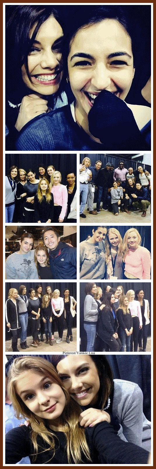 .TWD. It's nice to see them all happy and loving. On the show all it is is sadness and blood mixed with death.