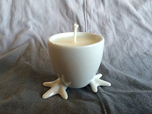 Soy wax egg cup candle, http://www.amazon.ca/dp/B01C3L0DBY/ref=cm_sw_r_pi_awdl_pD9Ywb0TDQAFY available in custom scents, #candle #soy #giftideas