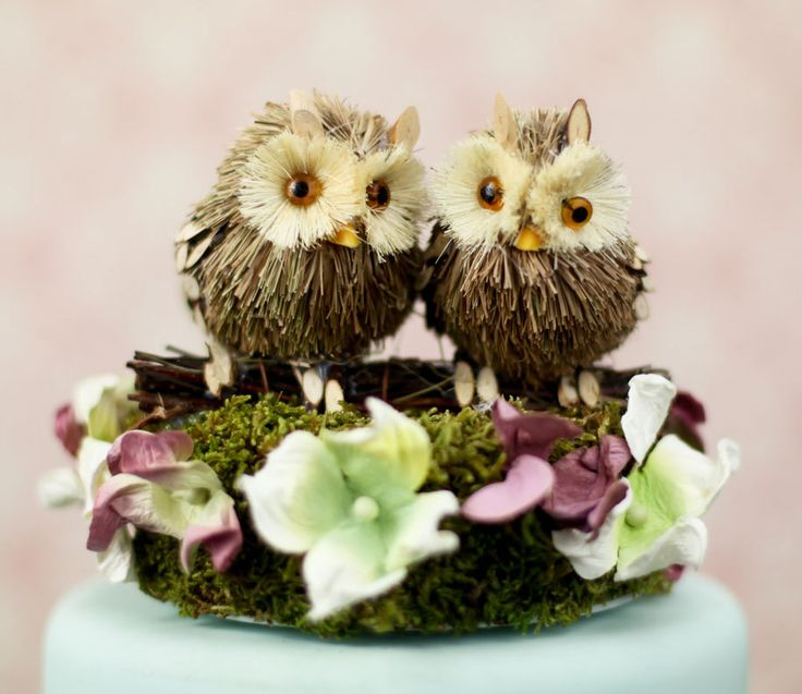 I'll Look Out For You Owl Wedding Cake Topper. $39.95, via Etsy.