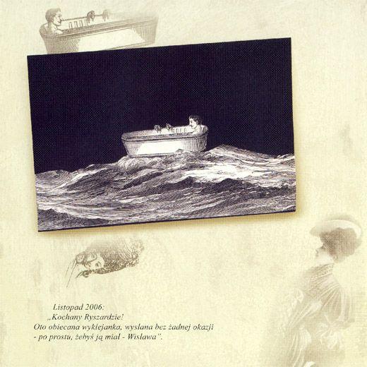 Wislawa Szymborska collage postcard