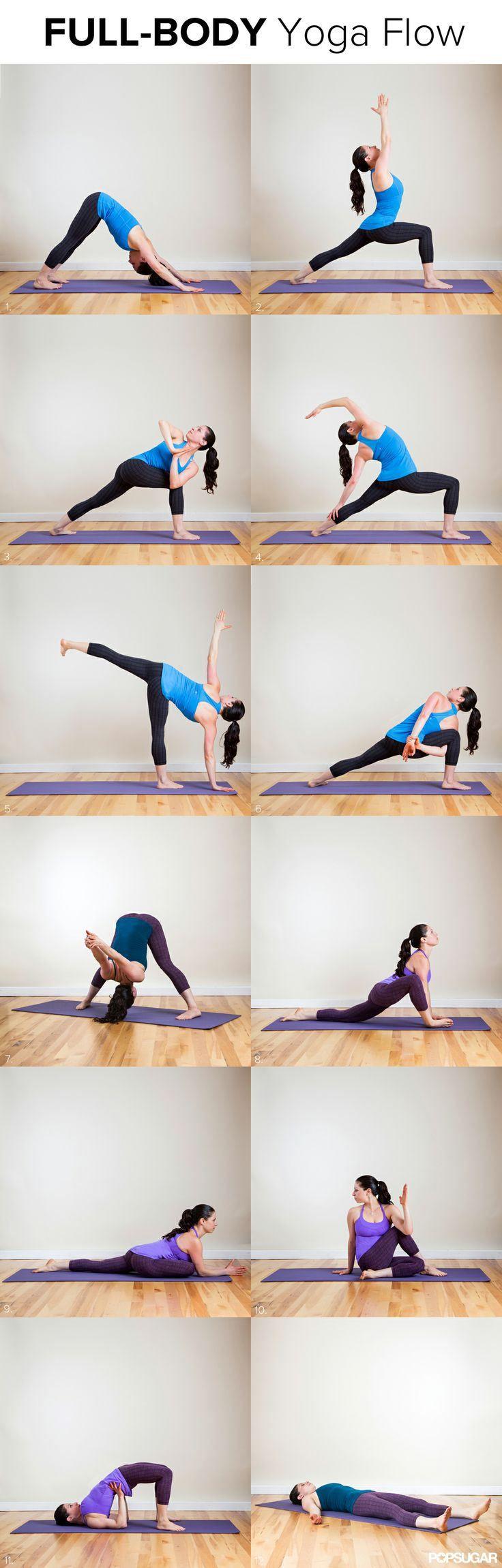 Full Body Yoga Flow by popsugar via sincerelycarlie #Yoga_Flow