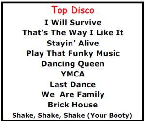 Top Karaoke Songs - Best Disco Karaoke Songs - http://allpartystarz.com/pa-dj/lancaster-karaoke-dj/top-karaoke-songs/top-karaoke-songs-best-disco-karaoke-songs.html