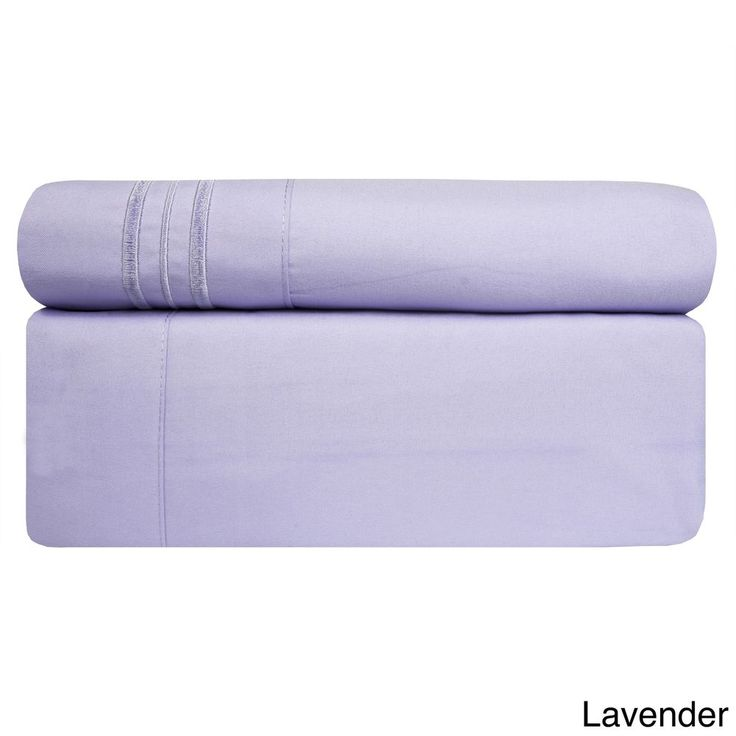 3 Piece TWIN Lavender Bed Sheet Set Fitted Flat Pillowcase New Free Shipping