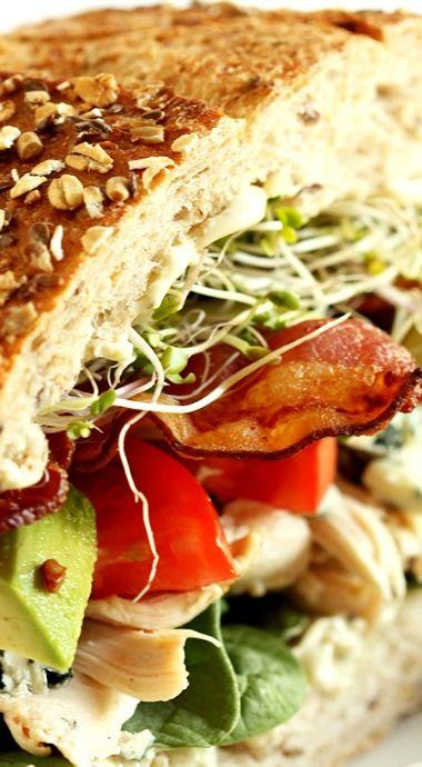 California Cobb Sandwich. Love it, but i wouldn't add hardboiled egg! lol yuck