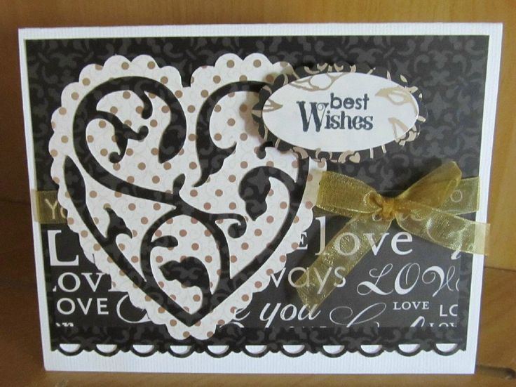 Wedding Gift Ideas Using Cricut : images about Anniversary & wedding cards on Pinterest Cricut wedding ...