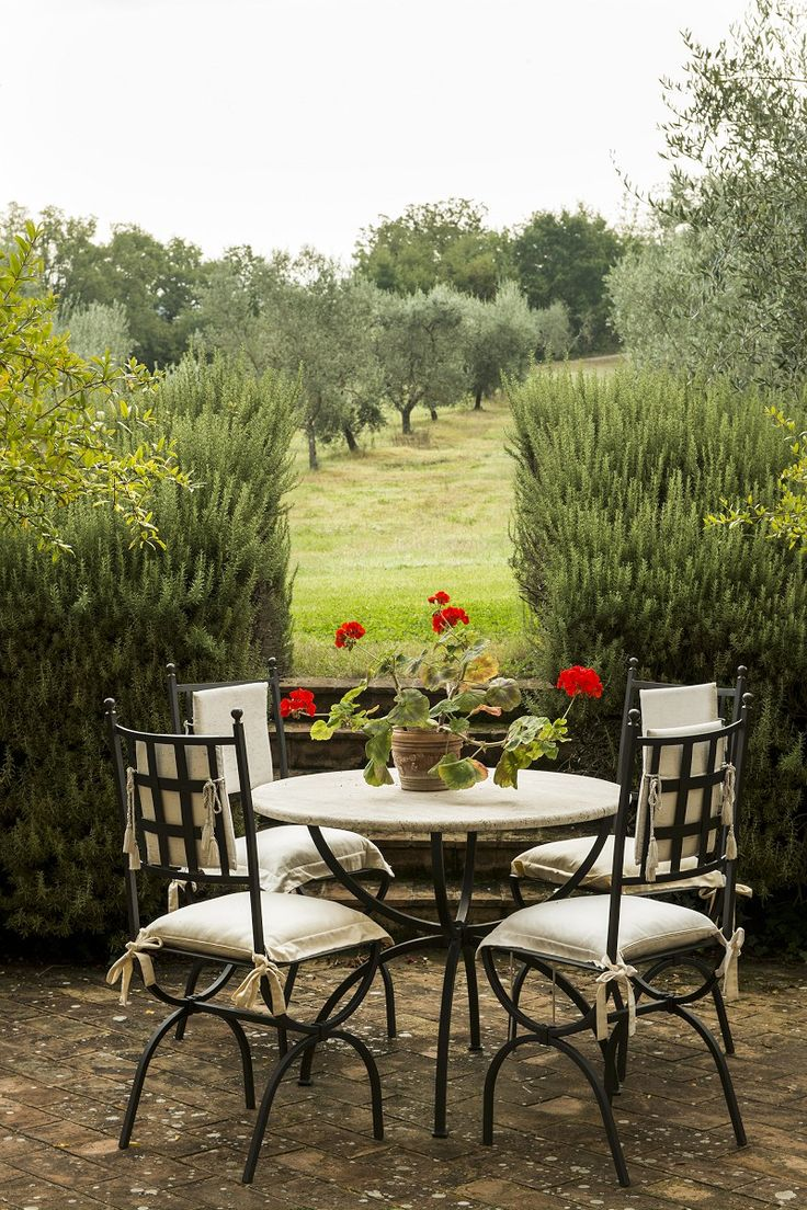 Val d'Orcia Abbey for Sale Tuscany, Rose garden design