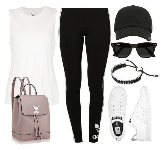 """""""Sin título #12955"""" by vany-alvarado ❤ liked on Polyvore featuring 321, adidas Originals, Ray-Ban, adidas and Links of London"""