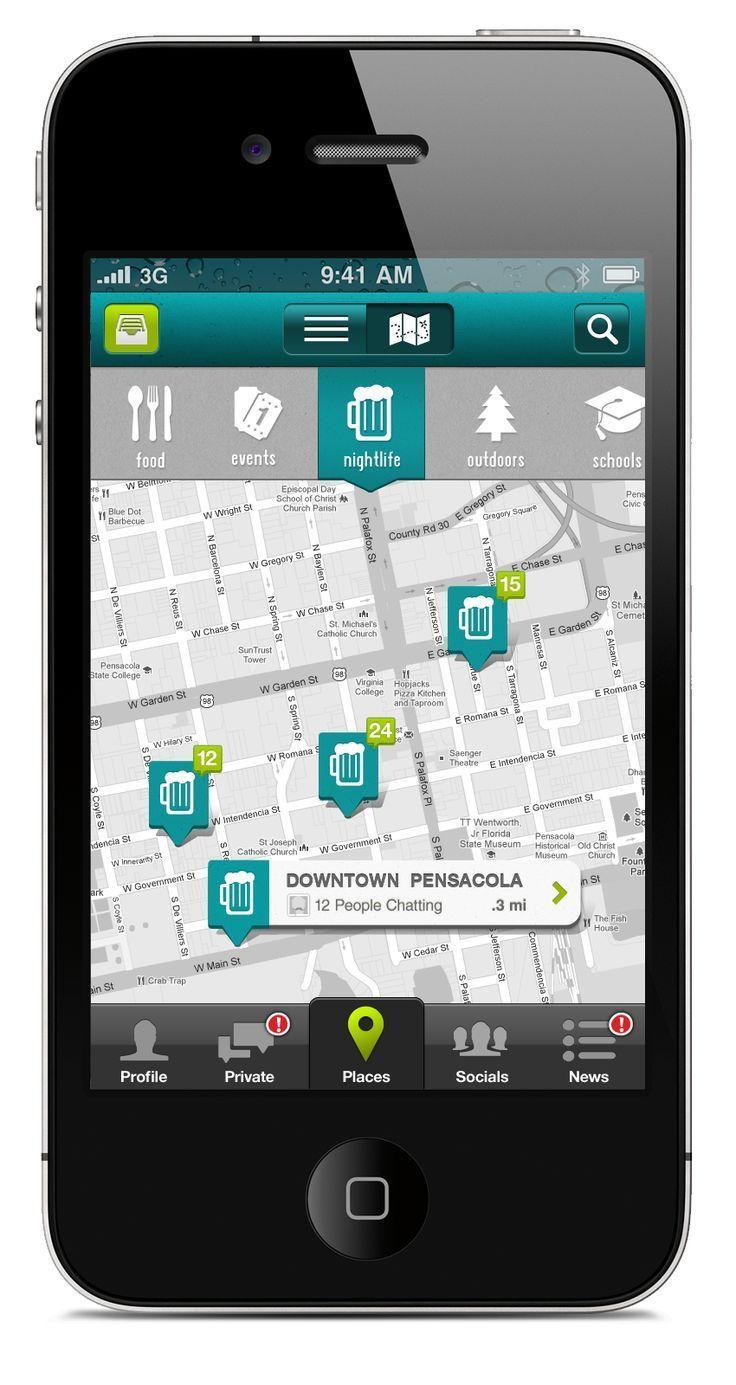 Inspiration mobile : 20 applications utilisant des fonctionnalités avec des maps | BlogDuWebdesign
