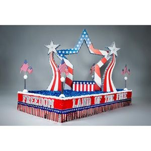 Land of the Free Parade Float Kit - Take the guesswork out of building a beautiful 4th of July parade float with this complete float kit.