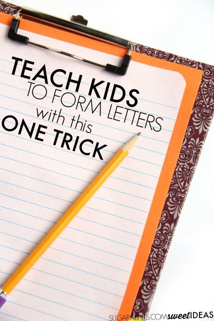 Easy trick for helping kids to write with appropriate pencil pressure and letter…