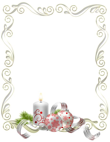Large Transparent White and Gold Christmas Photo Frame