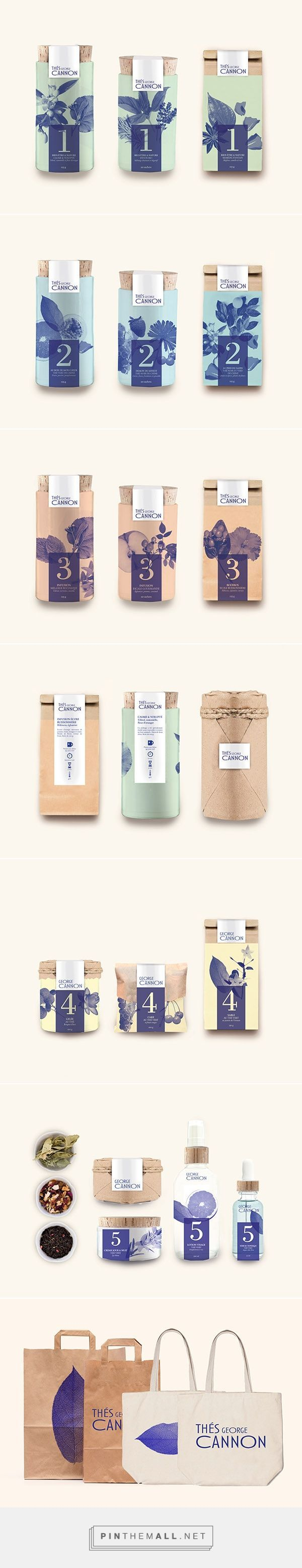 Thés George Cannon on Behance by Marion Dufour curated by Packaging Diva PD. Soft enticing packaging branding.
