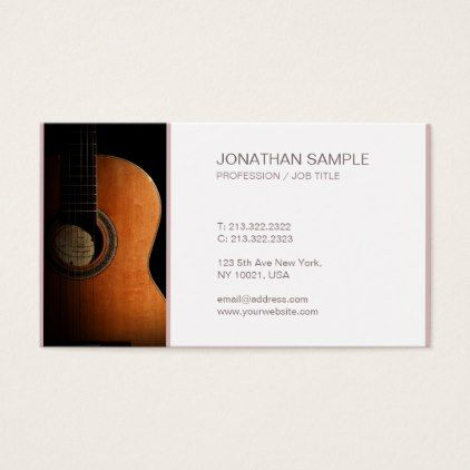 Creative Design Music Guitar Instructor Chic Plain Business Card - modern gifts cyo gift ideas personalize