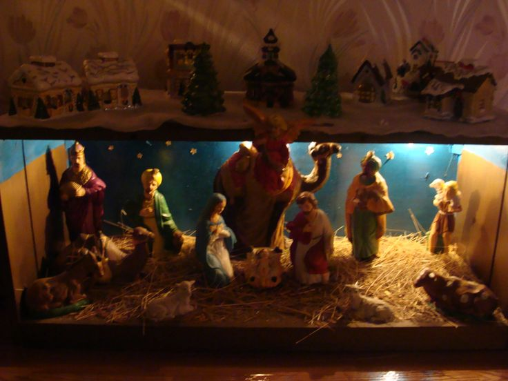 Homemade Manger Scene From Grandpa John