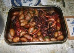 la ricetta di polpo con patate al forno