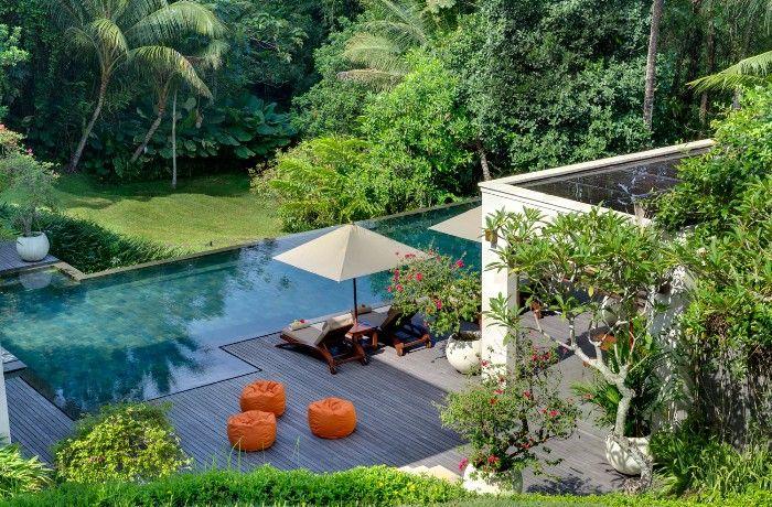Villa Arsana garden pool and bean bags
