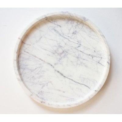 Found it at Wayfair Supply - Marble Round Tray
