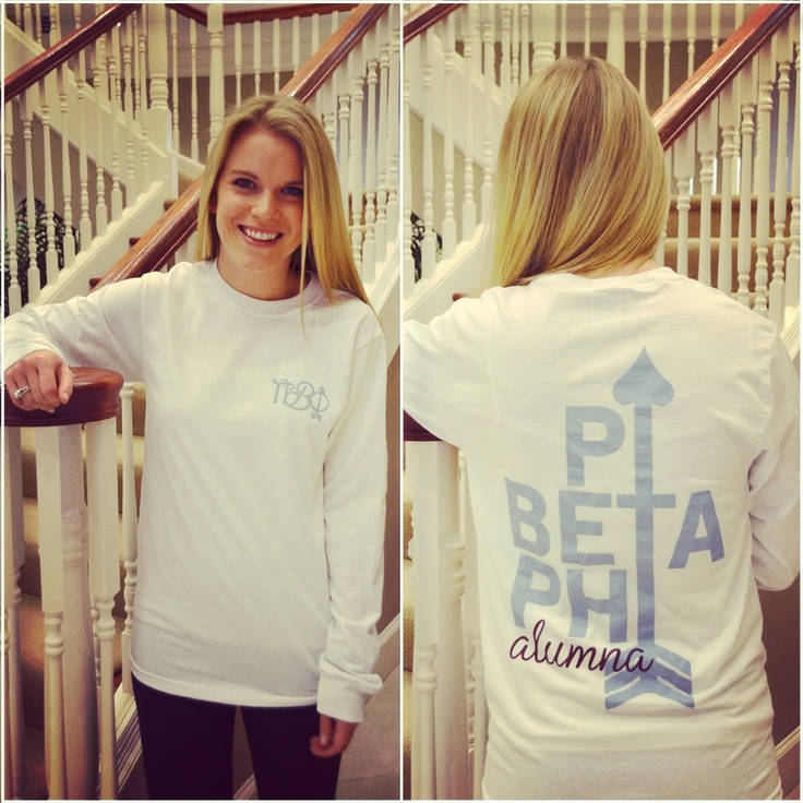 How great does LDC Jenny look in this new alumna long sleeved shirt from Pi Phi Express?