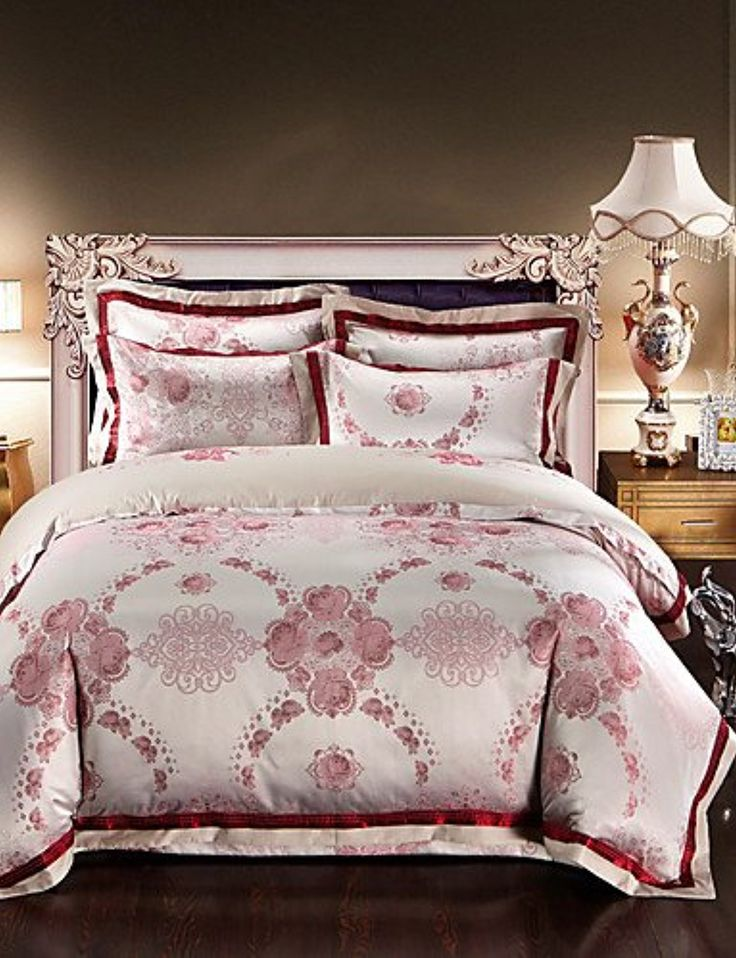 H&C Luxury Silk Cotton Blend Duvet Cover Sets Queen King