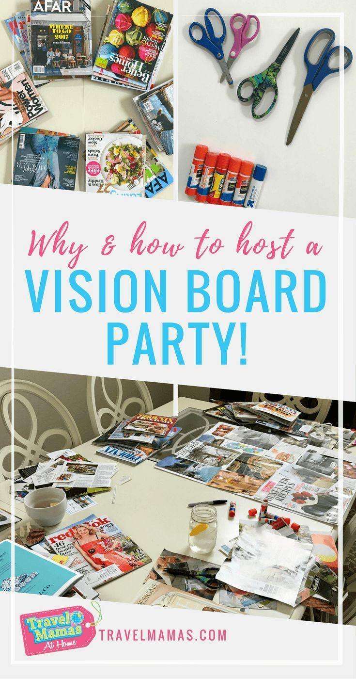 How to Host a Vision Board Party #visionboard #visionboardparty #NewYear #liveyourbestlife