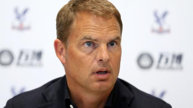 """New Crystal Palace manager Frank de Boer says he is excited to join a club that """"spend a lot of money"""".  The 47-year-old Dutchman, who has signed a three-year deal, succeeds Sam Allardyce, who left after helping Palace avoid relegation last season.  """"The aim is to be a solid Premier League team, not to struggle with relegation,"""" said the former defender, who won 112 caps for the Netherlands."""
