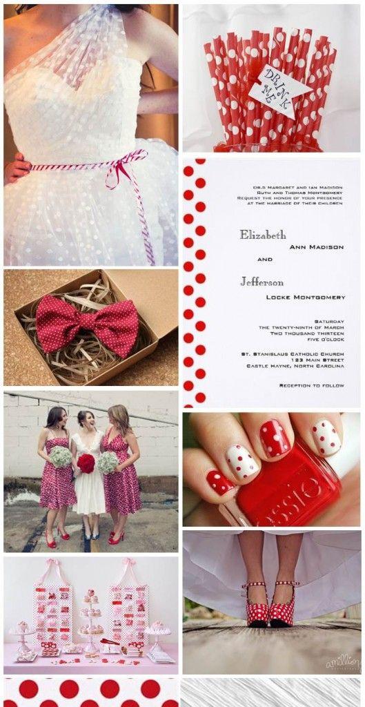 #Polka Dot Wedding #inspiration board