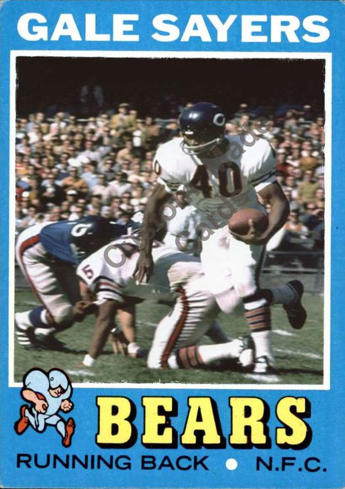Custom made Topps 1971 Chicago Bears Gale Sayers football card white #ChicagoBears