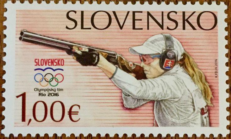 Slovakia - 2016 Rio Olympic Games, Sport Shooting (MNH)